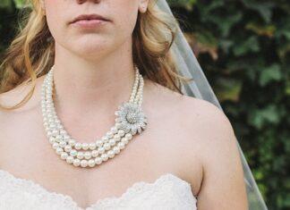 perły na ślubie