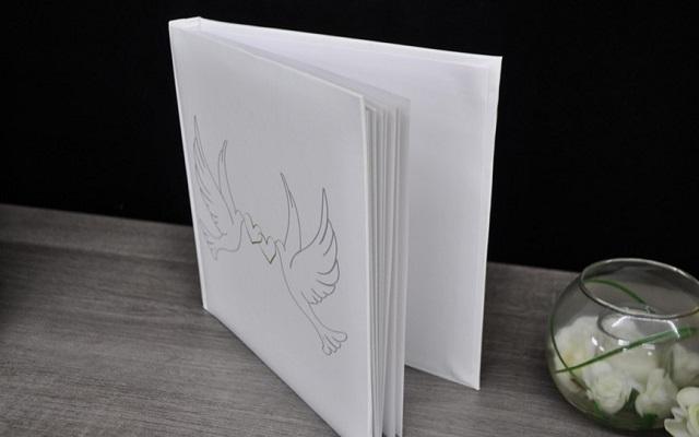 kartka z życzeniami biała duża
