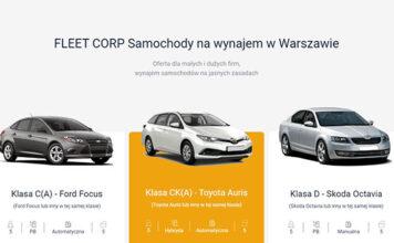 Wypożyczenie auta przez internet
